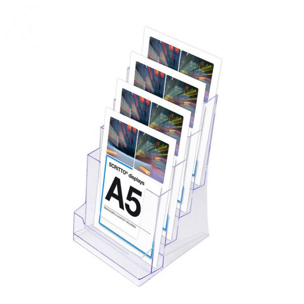 Prospektständer Scritto® DIN A5 4 Etagen - 4 Fächer