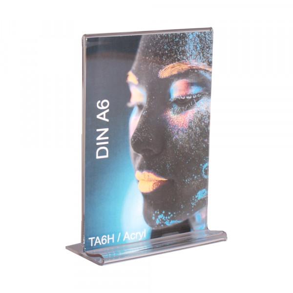 Tischaufsteller Acryl T-Form DIN A6 ECO