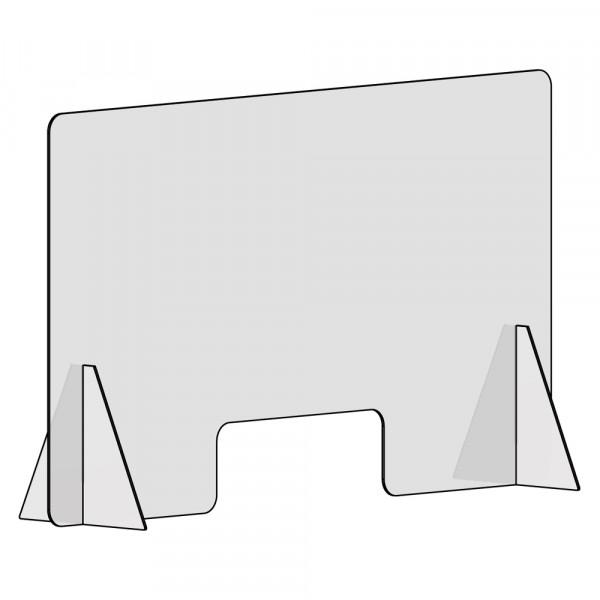 Spuckschutz 120x100cm (B/H) mit Durchreiche