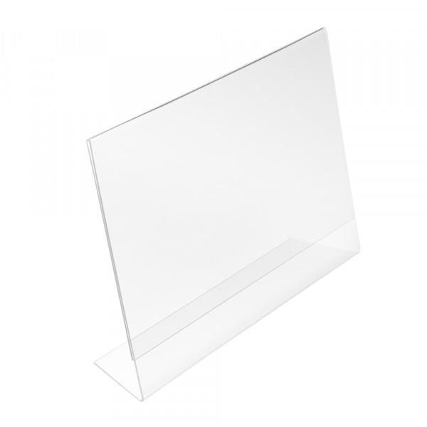 Tischaufsteller L-Form geneigt DIN A3 Querformat