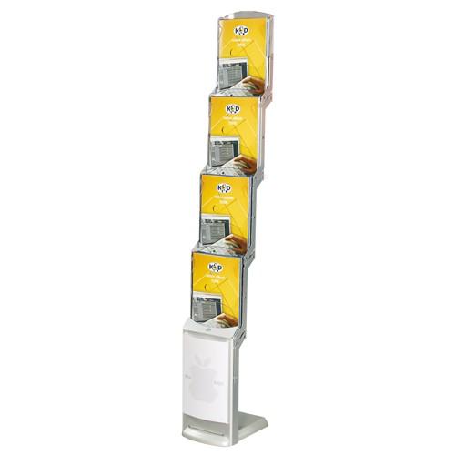 RealZIP Falt-Prospektständer 4x DIN A4 mit Postertasche