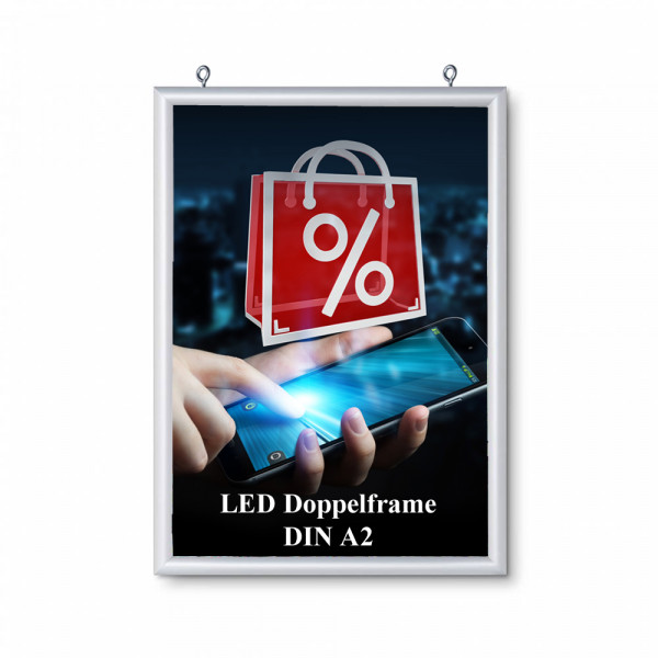 LED DIN A2 doppelseitiger Leuchtrahmen