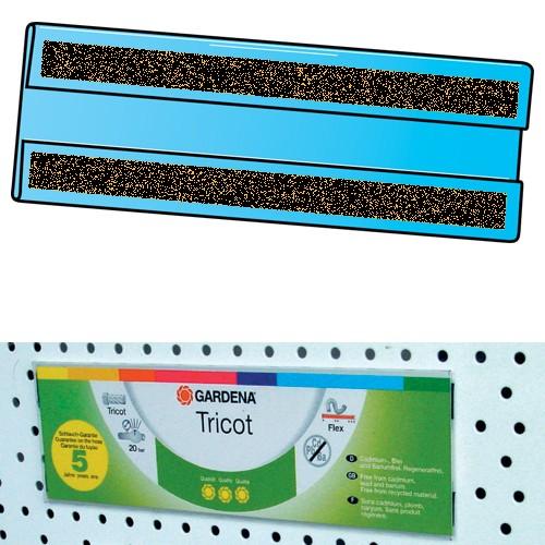 Preishülle mit Magnetschiene 10er Pack für Lochwand 210x60mm