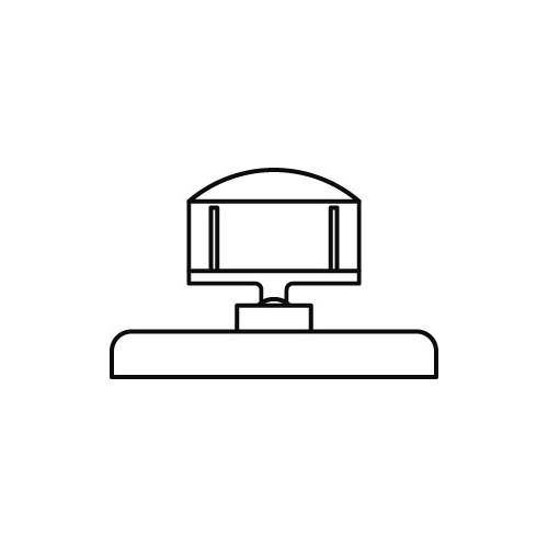 Schildhalter klein 27mm mit Standfuss 5cm - VersaGrip