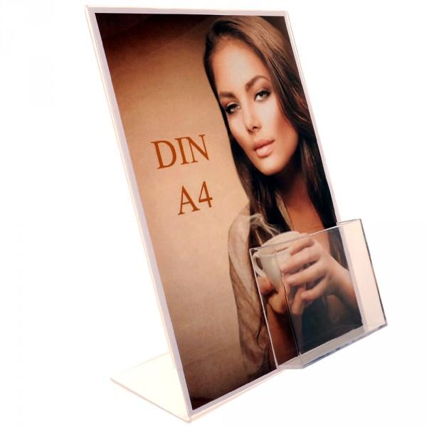 Premiumaufsteller DIN A4 mit Box DIN lang Poly