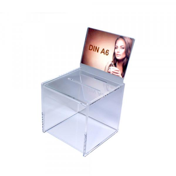 Zubehör: Topschild DIN A6 quer für Premium Losbox 15cm