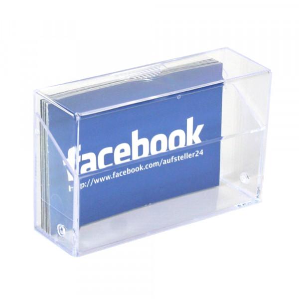 Visitenkartenbox mit Klapp-Deckel