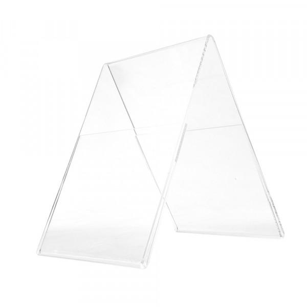 Plexiglas® Aufsteller Dachform - DIN A4 Hochformat