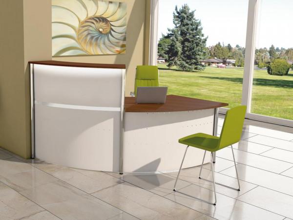 Thekenkombination Budget WHITE 02 - 225x105cm
