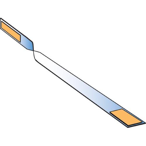 Schildwackler Wobbler PVC weiß, gedreht 20/200mm 100er Pack