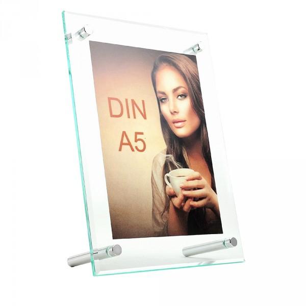 Tischaufsteller Superior DIN A5 geneigt hoch und quer