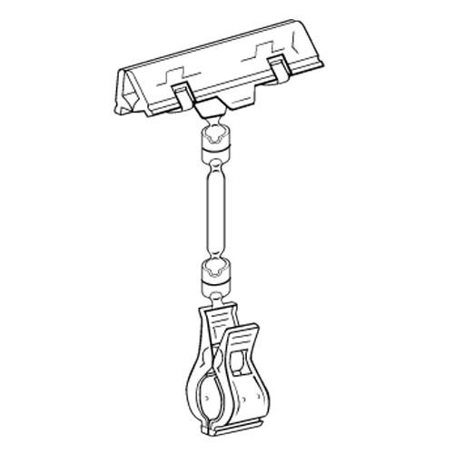 Schildhalter Feder 80mm mit Stab/Rohrklammer - VersaGrip