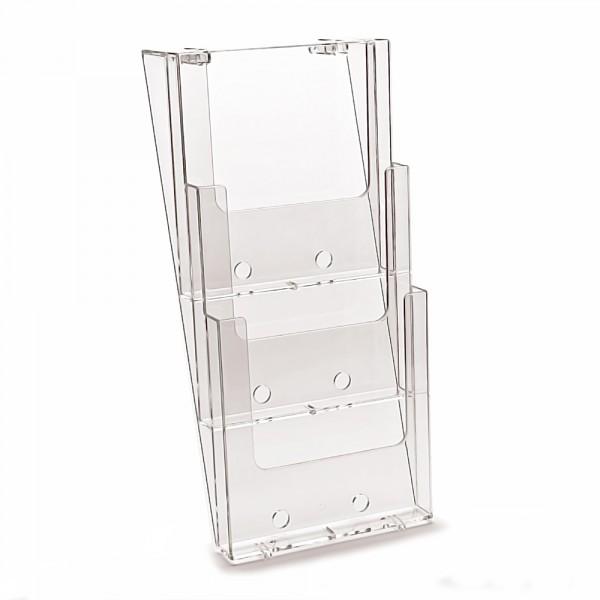 Wand-Prospekthalter Taymar® DIN lang - 3 Etagen, 6 Fächer