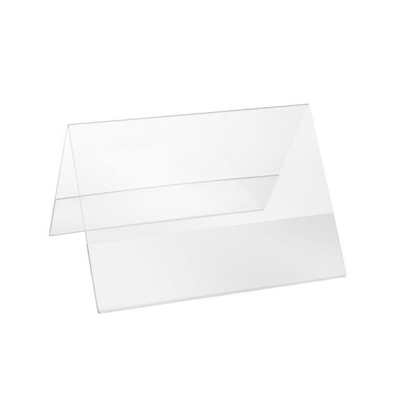 Plexiglas® Aufsteller Dachform - DIN A5 Querformat