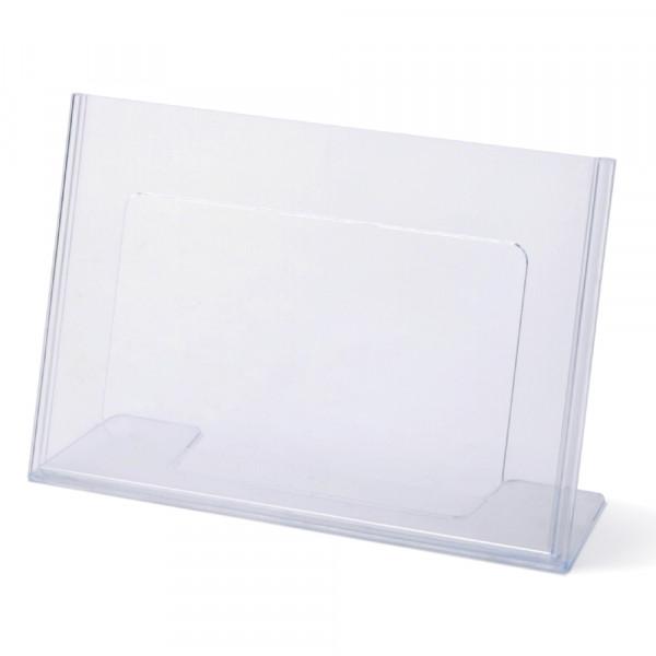 Tischaufsteller Toploader L-Form geneigt DIN A5 Querformat