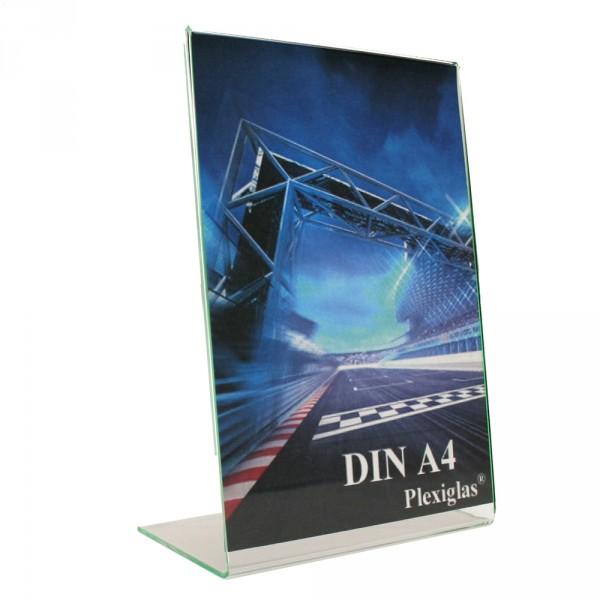 Plexiglas® Tischaufsteller L-Form schräg - DIN A4