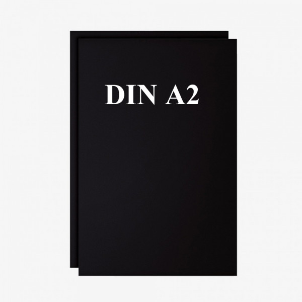 Schreibfolie Set 2 Stck. schwarz DIN A2