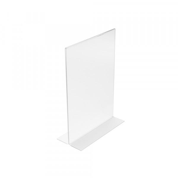 Tischaufsteller T-Form DIN A7