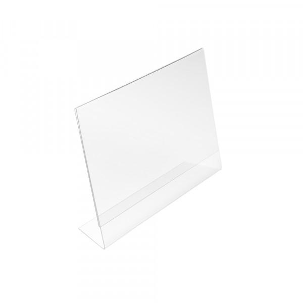 Tischaufsteller L-Form geneigt DIN A6 Querformat