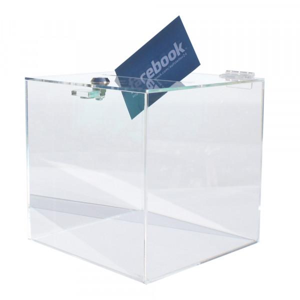 Losbox 15cm Kantenlänge ECO - Acryl mit Schloss