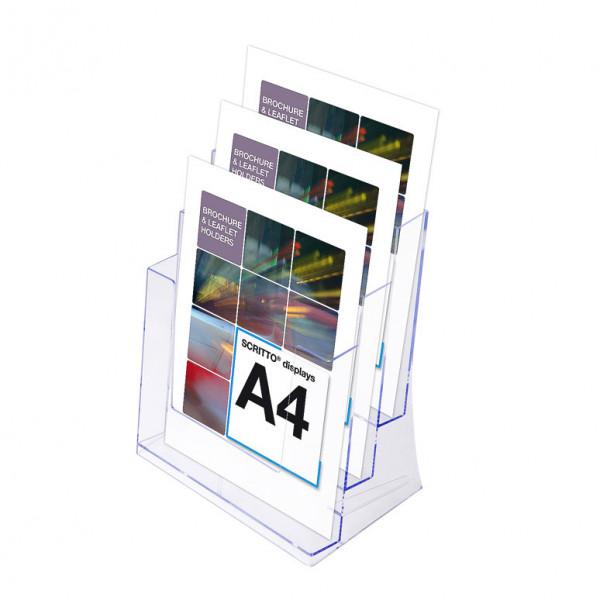 Prospektständer Scritto® DIN A4 3 Etagen - 3 Fächer