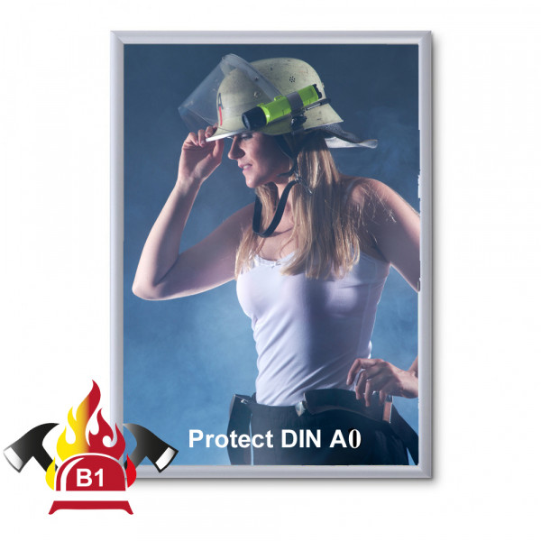 Klapprahmen FireProtection 25mm DIN A0 Brandschutznorm B1