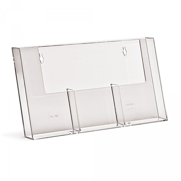 Wand-Prospekthalter Taymar® DIN lang - 3 Fächer nebeneinander