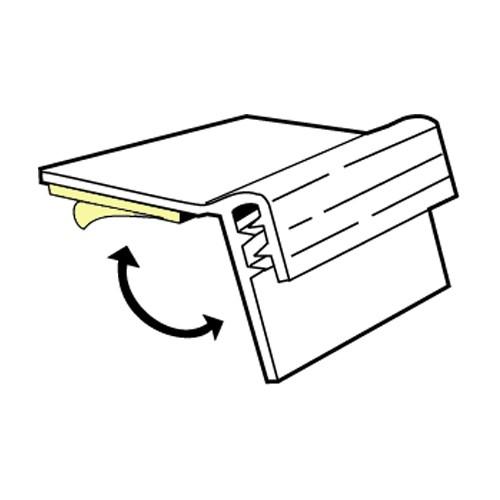 SuperGrip Flip Strip bis 2mm selbstklebend 76mm - 20er Pack