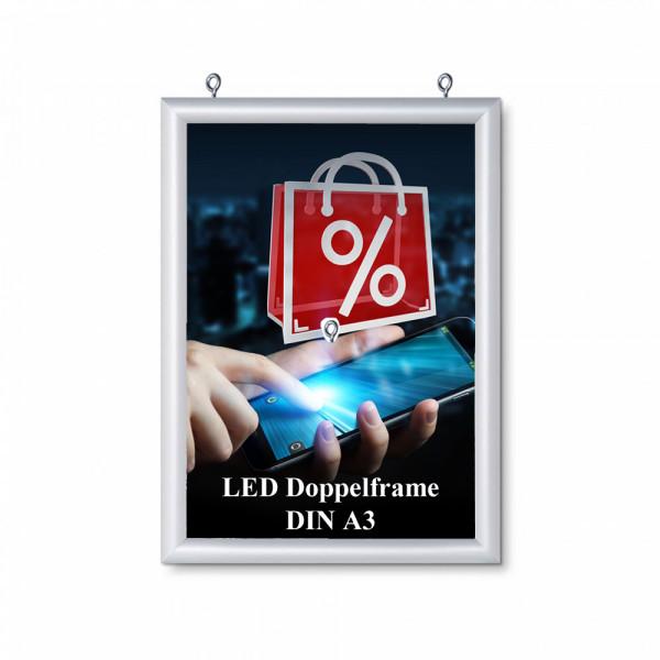 LED DIN A3 doppelseitiger Leuchtrahmen