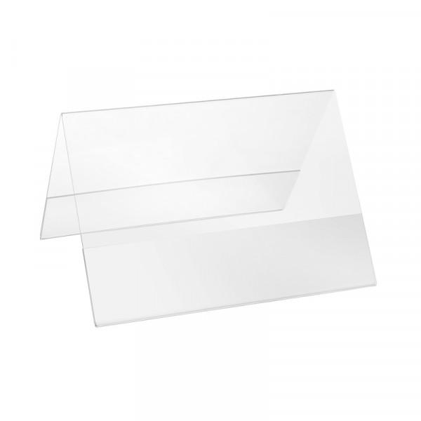 Plexiglas® Aufsteller Dachform - DIN A4 Querformat
