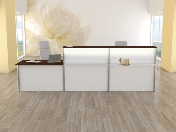 Thekenkombination Budget WHITE 04 - 350x80cm