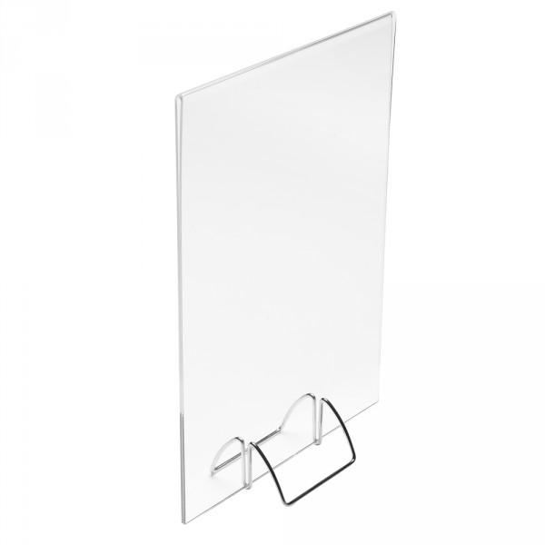 Tischaufsteller DIN A5 mit Metallsockel
