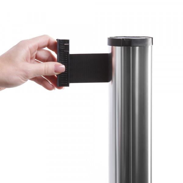 Absperrständer chrom mit Gurtband 260cm