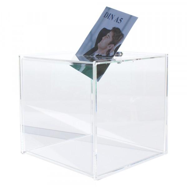 Losbox 30cm Premium Serie aus Plexiglas® mit Schloss