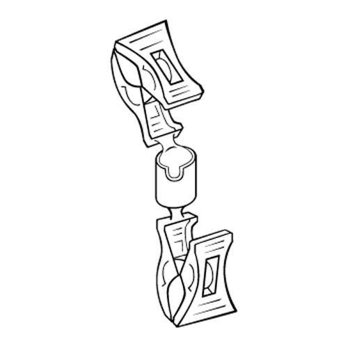 Schildhalter Preisclip mit Doppelklammer - VersaGrip