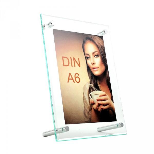 Tischaufsteller Superior DIN A6 geneigt hoch und quer