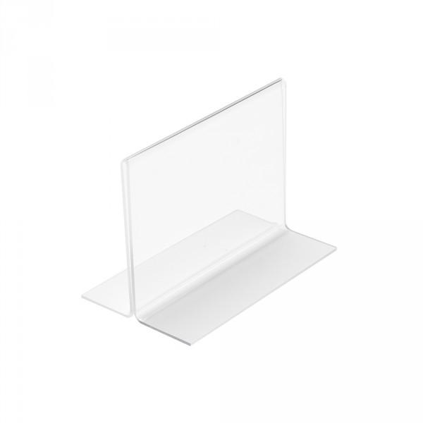 Tischaufsteller T-Form DIN A7 Querformat