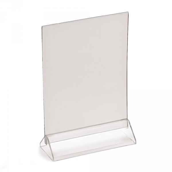 Tischaufsteller Taymar® DIN A5 mit Standfuss, hoch und quer