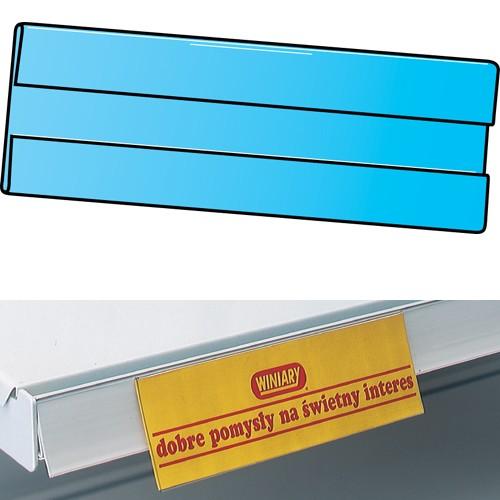Preishülle zum Einhängen in Regalboden 210x60mm 10er Pack