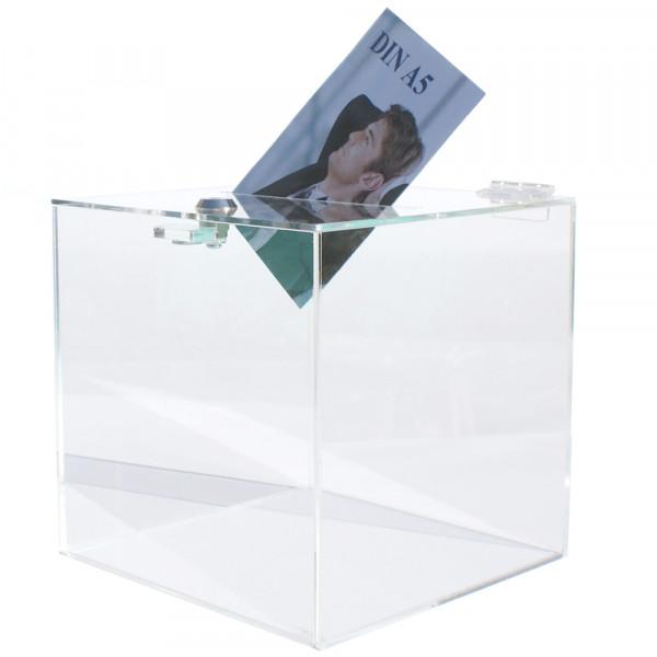 Losbox 30cm Kantenlänge ECO - Acryl mit Schloss
