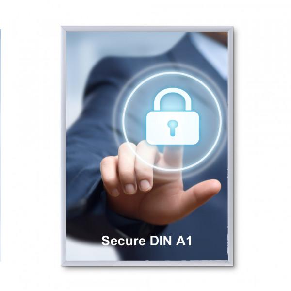 Klapprahmen Security 20mm DIN A1 Sicherheitsprofil