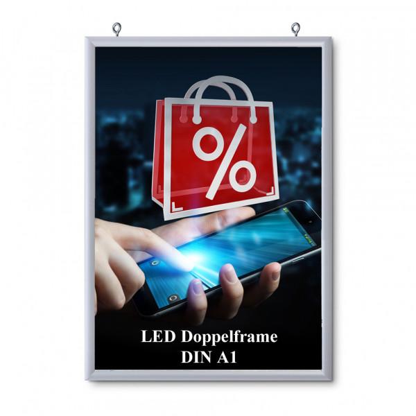 LED DIN A1 doppelseitiger Leuchtrahmen
