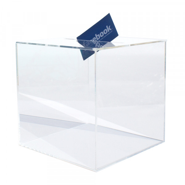 Losbox 20cm Kantenlänge ECO - Acryl mit Schloss