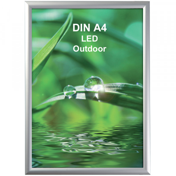 LED DIN A4 Outdoor Leuchtrahmen