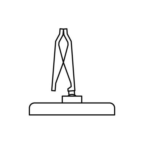 Schildhalter Klammer mit Standfuss 5cm - VersaGrip