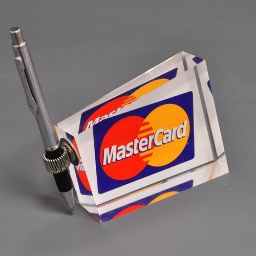 Sonderanfertigung Acrylblock Mastercard