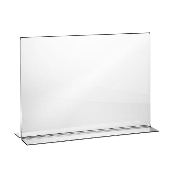 Tischaufsteller Acryl T-Form DIN A6 Querformat