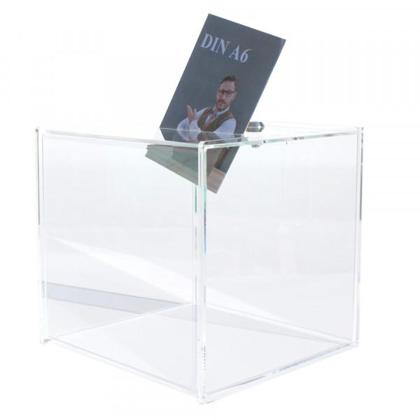 Losbox 20cm Premium Serie aus Plexiglas® mit Schloss