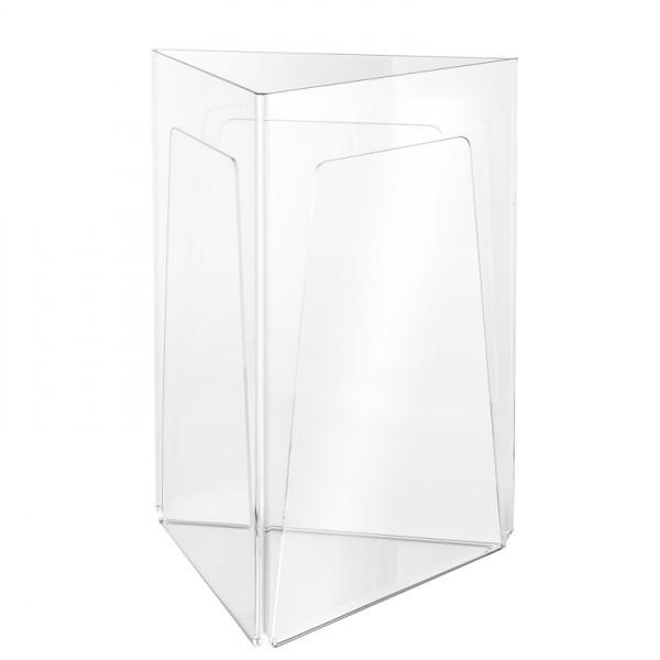 Werbeaufsteller Dreiecks-Form 3-fach DIN A4