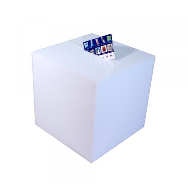 Losbox 20cm Kantenlänge ECO Opal blickdicht